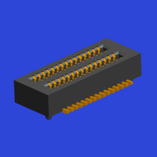 0.50mm间距BTB 双槽 母座Female 立贴带定位柱