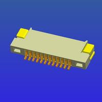 0.5mm间距1.2高无锁式FPC