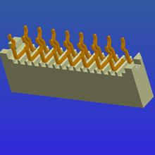 1.0mm間距B型單面接直針無鎖式FPC